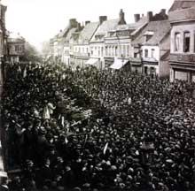 Mouvement de grève à Lens en 1906
