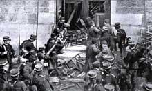 Bataille rangées entre la gendarmerie et les fidèles catholiques lors de l'inventaire d'une église en 1906