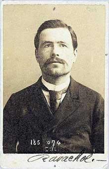 François Claudius Königstein, dit Ravachol (1859-1892) par Bertillon (1871