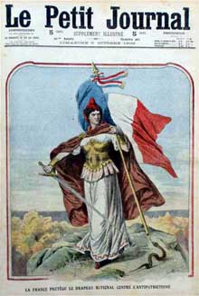 Le nationalisme-patriotisme français. Couverture du « Le Petit Journal », 1909