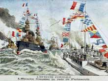 L'Entente cordiale: la flotte française parade à Porthmouth