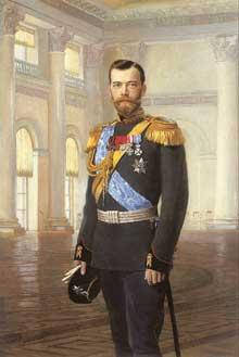 Le Tsar Alexandre NicolasII (1894-4947). Portrait d'Ernest Lipgart