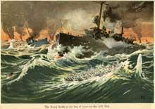 La bataille navale de Tsushima signe la défaite des troupes russes face aux Japonais