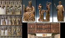 Le retable des Trois vierges de l'église Saint-Sauveur à Hakendover. 1400-1404. Atelier brabançon. (Histoire de l'art - Quattrocento