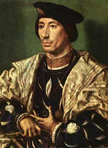Jan Gossaert dit Mabuse(1478-1536),: Baudouin de Bourgogne. Berlin, Staatliche Museen