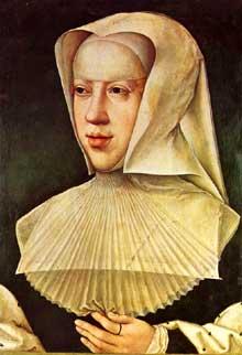 Bernard Van Orley (1492-1542): Marguerite d'Autriche. Huile sur bois. Bruxelles, Musées royaux des Beaux Arts