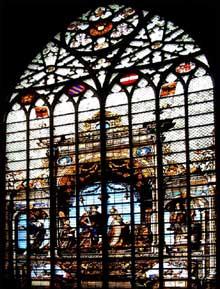Van Orley: vitrail du jugement dernier. 1538. Bruxelles, sainte Gudule