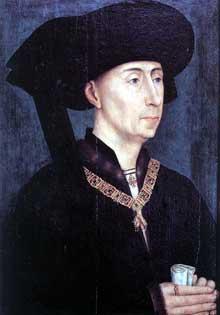 Rogier Van der Weyden (1400-1474): portrait de Philippe le Bon. Après 1450. Huile sur bois, 31 x 23 cm. Dijon, Musée des Beaux Arts. (Histoire de l'art - Quattrocento
