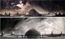 Pierre Fontaine: projet d'un monument sépulcral pour les souverains d'un grand empire. 1795