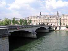 Paris: le pont du Carrousel (1831-1834) par Polonceau