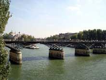 Paris: le pont des Arts (1803), par Cessart et Delon