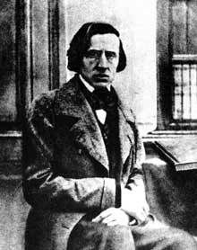 Frédéric Chopin : portrait (photo) en 1848