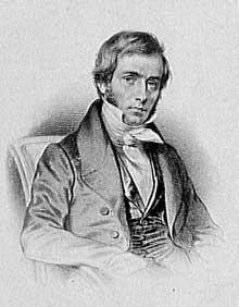 Victor Cousin (1792-1867). Gravure de Charpentier A. Aubert, d'après un portrait de François Séraphin Delpech. Vers 1820
