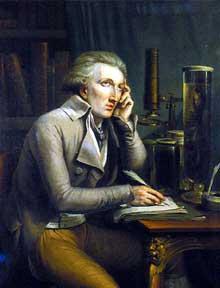Georges Léopold Chrétien Frédéric Dagobert, baron Cuvier (1769-1832). Portrait par Mathieu Ignace van Brée, 1798