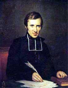 Hugues-Félicité Robert de Lamennais (1782 1854). Portrait par Paulin Jean-Baptiste Guérin. Salon de 1827. Châteaux de Versailles et de Triano