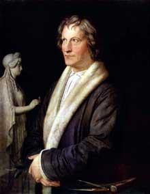 Carl Joseph Begas: Bertel Thorvaldsen. Vers 1820. Huile sur bois, 47 × 37 cm. Saint-Pétersbourg, musée de l'Ermitage