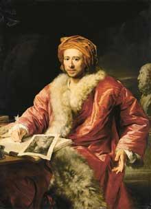 Portrait de Johann Joachim Winckelmann par Anton von Maron. 1768. Weimar, Kunstsammlungen