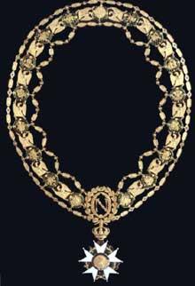 Martin-Guillaume Biennais: Collier de la Légion d'honneur du deuxième modèle, vers 1805 (or et émaux) exécuté sur une idée de Dominique Vivant Denon