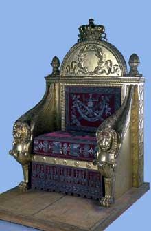 François-Honoré-Georges Jacob-Desmalter: trône. 1805. Provient du corps législatif