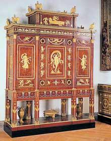 Jacob-Desmalter, Charles Percier, Pierre-Philippe Thomire: Armoire serre-bijoux de l'impératrice Joséphine dite «grand écrin». 1809