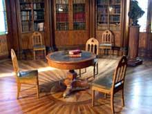 Château de Digoine en Charolais: bibliothèque de style «néogothique» ou troubadour. Epoque de CharlesX, vers 1825