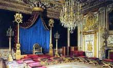 Fontainebleau: salle du trône par Percier et Fontaine