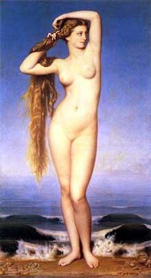 Eugène Amaury-Duval: La Naissance de Vénus. 1862. Huile sur toile. Palais des Beaux Arts de Lill