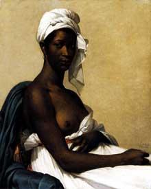 Marie Guillemine Benoist: portrait d'une négresse. 1800. Huile sur toile, Paris, Musée du Louvre.