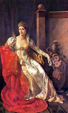 Marie Guillemine Benoist: portrait d'Elisa Bonaparte, soeur de l'empereur Napoléeon et duchesse de Lucques. 1805. Huile sur toile, 214 x 129 cm. Lucques, Pinacothèque