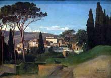 Jean Achille Benouville: Vue d'une villa romaine. 1844. Huile sur toile, 72 cm x 54 cm. Paris, Musée d'Orsay