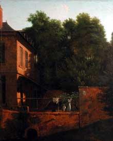 Jean Victor Bertin: vue prise à Essonne. 1840. Huile sur toile, 34 x 41 cm. Paris, Musée du Louvre