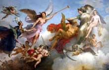 Merry Joseph Blondel: la France victorieuse à Bouvines. Décor du plafond de la salle del Ducca du musée du Louvre. 1827-1828