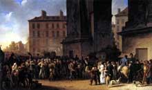 Louis Léopold Boilly: Départ des Conscrits en 1807. 1808. Huile sur toile, 85 x 138 cm. Paris, Musée Carnavalet.
