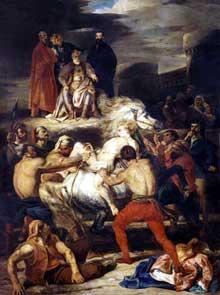 Louis Boulanger: Mazeppa. 1827. Huile sur toile, 392 x 525 cm. Rouen, Musée des Beaux Arts