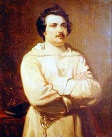 Louis Boulanger: Honoré de Balzac en habit de moine. 1829. Huile sur toile. Tours, musée des beaux arts