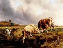 Jacques Raymond Brascassat: combat de Taureaux. 1837. Huile sur toile, 148 x 196 cm. Nantes, Musée des beaux Arts