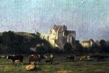 Nicolas Louis Cabat: Le château de Dieppe vu de la vallée. Huile sur toile. Dieppe, Caisse Nationale des Monuments Historiques et des Sites