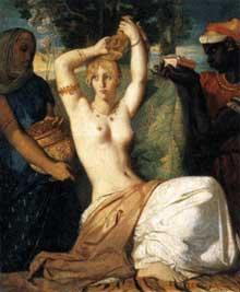 Théodore Chassériau: La toilette d'Esther. 1841. Huile sur toile, 45,5 x 35,5 cm. Paris, musée du Louvre