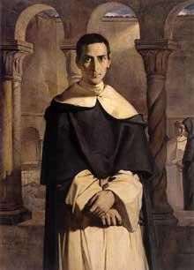 Théodore Chassériau: Henri-Dominique Lacordaire au couvent de Sainte Sabine à Rome. 1840. Huile sur toile. Paris, musée du Louvre