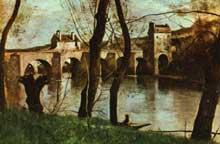 Camille Corot: le pont à Nantes. 1825. Huile sur toile. Paris, Musée du Louvre