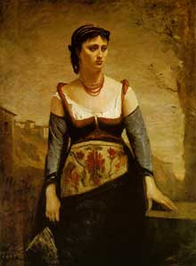 Camille Corot : Agostina. Huile sur toile, 132 x 97.6 cm. Washington, The National Gallery of Art