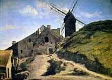 Camille Corot: Le Moulin de la Galette. 1840. Huile sur toile. Genève, musée d'Art et d'Histoire