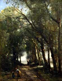 Camille Corot: Un chemin au milieu des arbres. 1870-1873. Huile sur toile. New York, Metropolitan Museum of Art