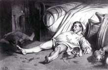 Honoré Daumier: le massacre de la rue Transnonain, 15 avril 1834. Lithographie