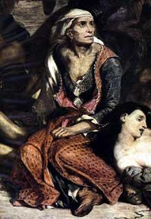 Eugène Delacroix: les massacres de Chio, détail. 1824. Huile sur toile. Paris, Musée du Louvre