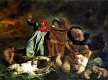 Eugène Delacroix: Dante et Virgile aux enfers. 1822. Huile sur toile, 188 x 241. Paris, Musée du Louvre