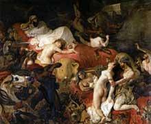 Eugène Delacroix: la mort de Sardanapale. 1827. Huile sur toile, 392 x 496 cm. Paris, Musée du Louvre