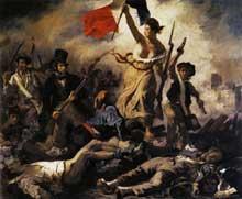Eugène Delacroix: la Liberté guidant le peuple. 1830. Huile sur toile, 260 x 325 cm. Paris, Musée du Louvre