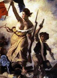 Eugène Delacroix: la Liberté guidant le peuple, détail. 1830. Huile sur toile. Paris, Musée du Louvre