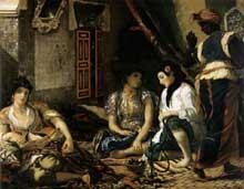 Eugène Delacroix: femmes d'Alger. 1834. Huile sur toile, 180 x 229 cm. Paris, Musée du Louvre